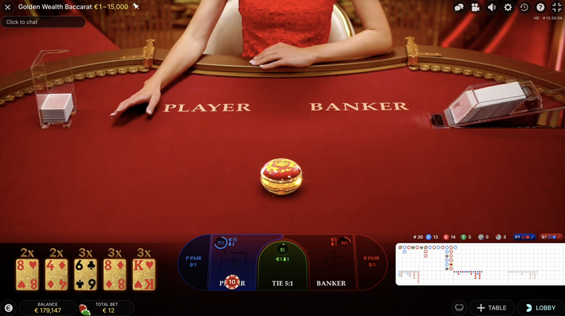Golden Wealth Baccarat golden cards